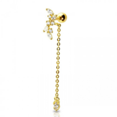 Piercing Orecchio Cartilagine - Helix - Barbell Piercing – Lullaby Gold Plated