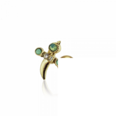 Piercing Orecchio Cartilagine - Helix - Conch - Tragus - Barbell Piercing – Ali Baba Gold Plated