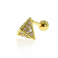Piercing Orecchio Cartilagine - Helix - Conch - Tragus - Barbell Piercing – Horus Gold Plated