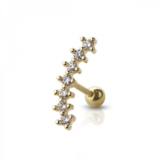 Piercing Orecchio Cartilagine - Helix - Conch - Tragus - Barbell Piercing – Tiara Gold Plated